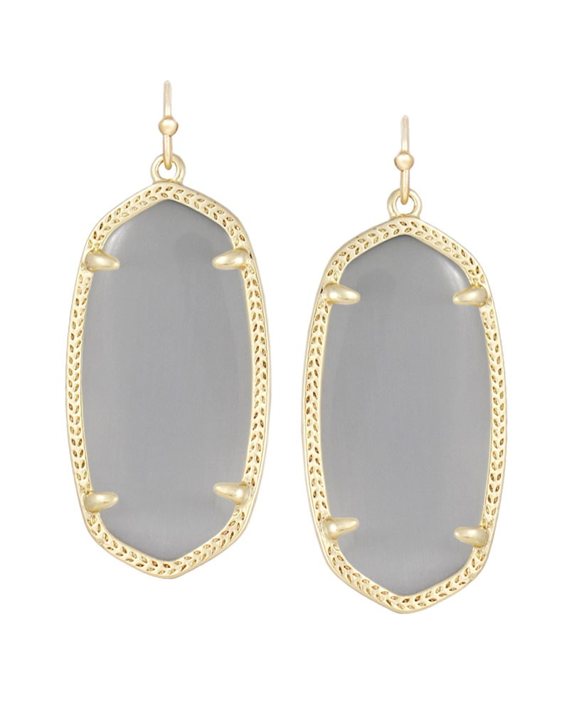 Kendra Scott - elleearringgoldslatecatseye1.jpg - brand name designer jewelry in Friendswood, Texas