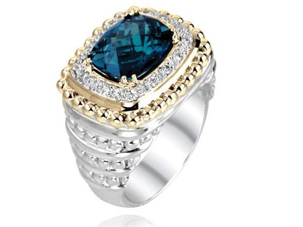 14k Gold & Sterling Silver Ring by Vahan