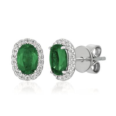 LeVian Emerald and diamond earrings by Le Vian